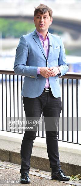 Brian Dowling seen filming on London's Southbank on August 16 2011 in London England