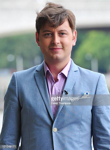 Brian Dowling seen out filming on London's Southbank on August 16 2011 in London England