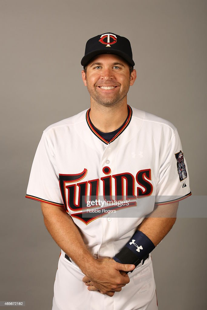 Brian Dozier of the Minnesota Twins poses during Photo Day on Tuesday March 3 2015 at Hammond Stadium in Fort Myers Florida