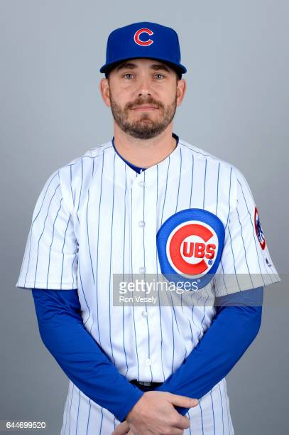 Brian Duensing of the Chicago Cubs poses during Photo Day on Tuesday February 21 2017 at Sloan Park in Mesa Arizona