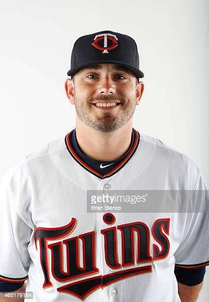 Brian Duensing of the Minnesota Twins poses for a photo on March 3 2015 at Hammond Stadium in Fort Myers Florida