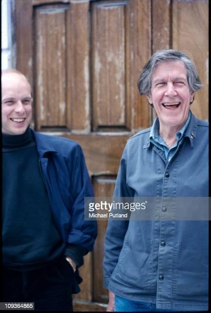 Brian Eno and John Cage London circa 1982