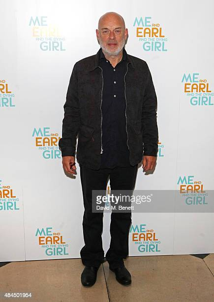 Brian Eno attends the UK Premiere of 'Me And Earl And The Dying Girl' during Film4 Summer Screenings at Somerset House on August 19 2015 in London...