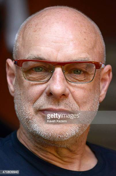 CARTAGENA of INDIAS COLOMBIA JANUARY 30 2015 Brian Eno photographed during a photo shoot in hotel Santa Clara on January 30 2015 in Cartagena Colombia