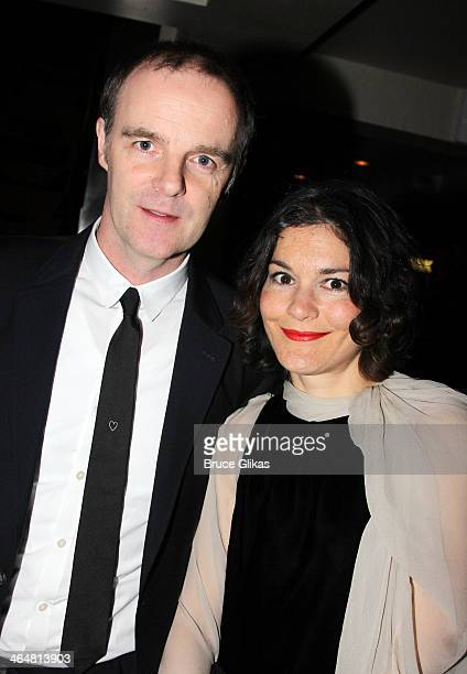 Brian F O'Byrne and wife Heather Goldenhersh O'Byrne attend the after party for the Broadway opening night of 'Outside Mullingar' at The Copacabana...