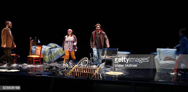 Brian F O'Byrne Annie Funke Jake Gyllenhaal Michelle Gomez during the Opening Night Performance Curtain Call for the Roundabout Theatre Production of...