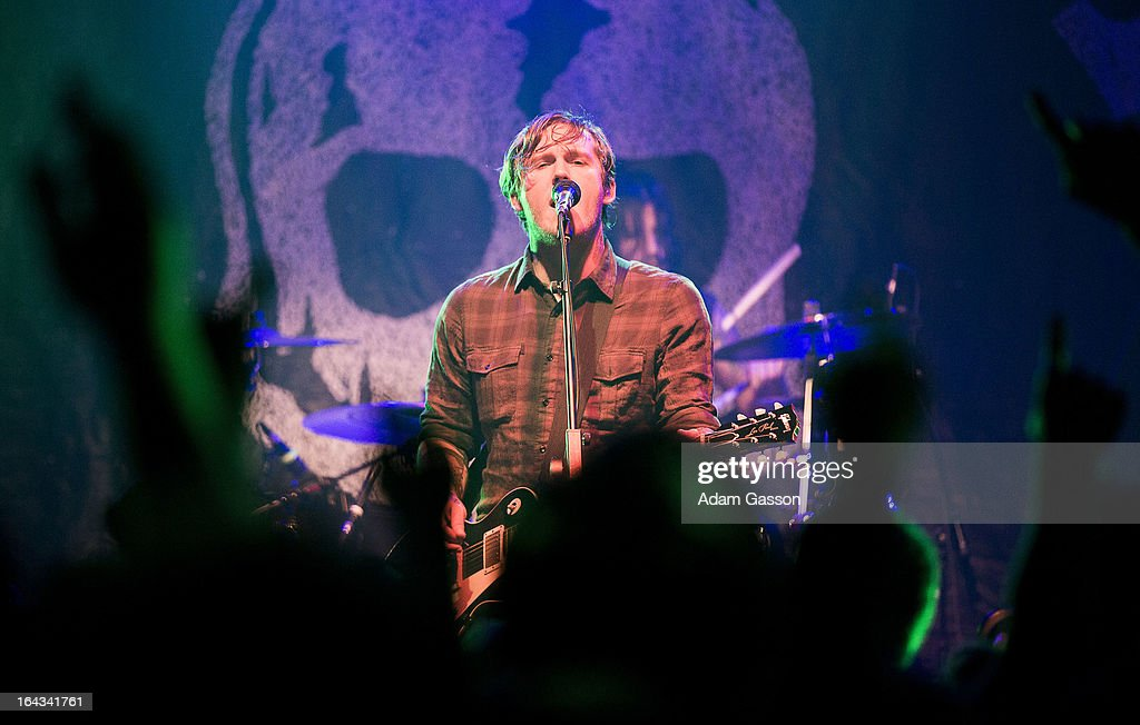 Brian Fallon from The Gaslight Anthem performs at O2 Academy on March 22, 2013 in Bristol, England.