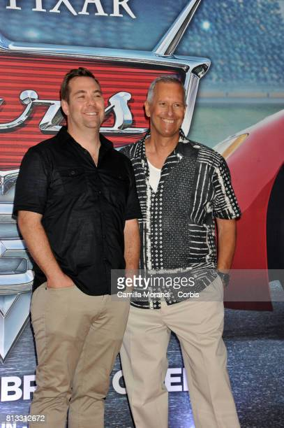 Brian Fee and Kevin Reher attend a photocall for Cars 3 on July 12 2017 in Rome Italy