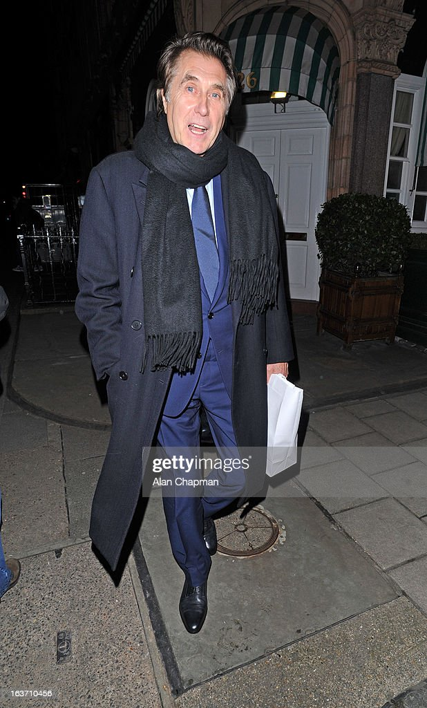 Brian Ferry sighting at Harry's Bar on March 14, 2013 in London, England.