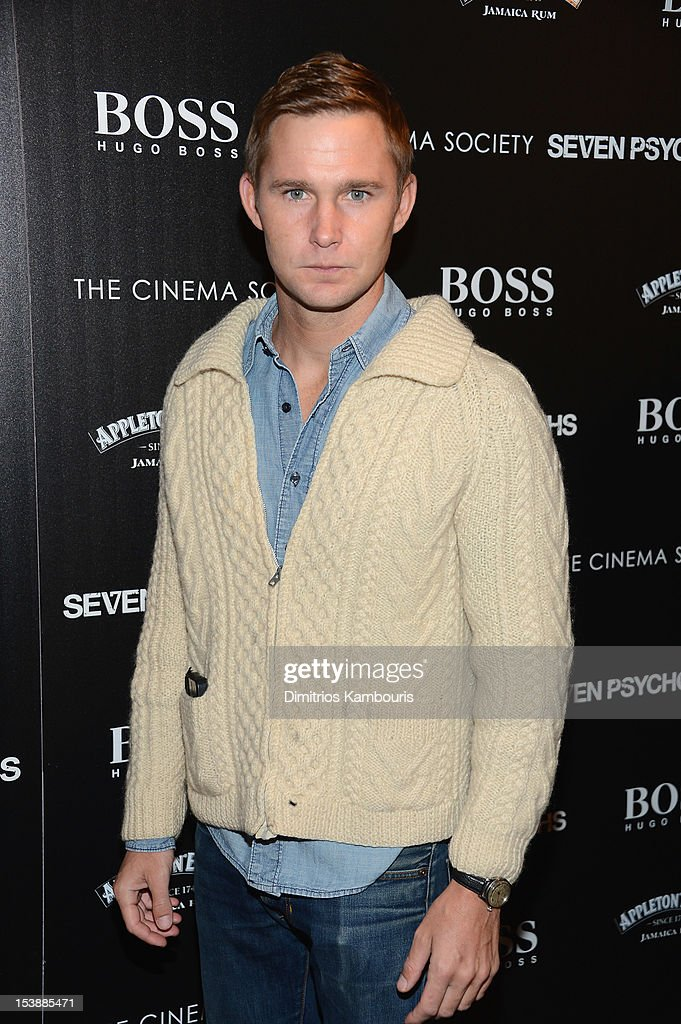 Brian Geraghty attends The Cinema Society with Hugo Boss and Appleton Estate screening of 'Seven Psychopaths' at Clearview Chelsea Cinemas on October 10, 2012 in New York City.