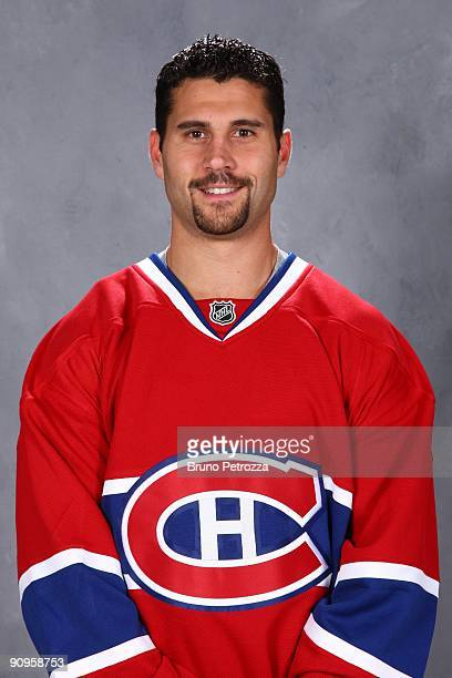 Brian Gionta of Montreal Canadians poses for his official headshot for 20092010 NHL season