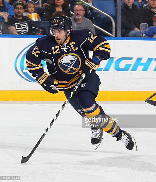 Brian Gionta of the Buffalo Sabres skates against the Los Angeles Kings on December 9 2014 at the First Niagara Center in Buffalo New York