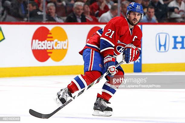 Brian Gionta of the Montreal Canadiens skates against the Boston Bruins in Game Six of the Second Round of the 2014 NHL Stanley Cup Playoffs at the...