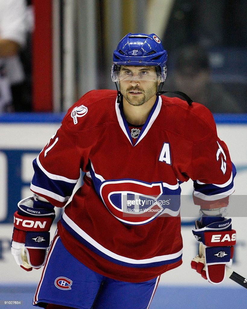 <a gi-track='captionPersonalityLinkClicked' href=/galleries/search?phrase=Brian+Gionta&family=editorial&specificpeople=202116 ng-click='$event.stopPropagation()'>Brian Gionta</a> #21 of the Montreal Canadiens skates prior to NHL Preseason game against the Boston Bruins on September 20, 2009 at the Colisee Pepsi in Quebec City, Quebec, Canada. The Bruins defeated the Canadiens 2-1.