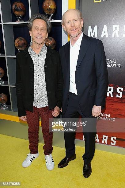 Brian Grazer and Ron Howard attend the National Geographic Channel 'MARS' Premiere NYC on October 26 2016 in New York City