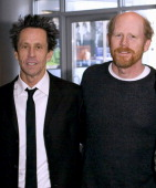 Brian Grazer and Ron Howard during Ron Howard and Brian Grazer Present a Sloan Foundation Dialogue at the Museum of Moving Image December 3 2005 at...