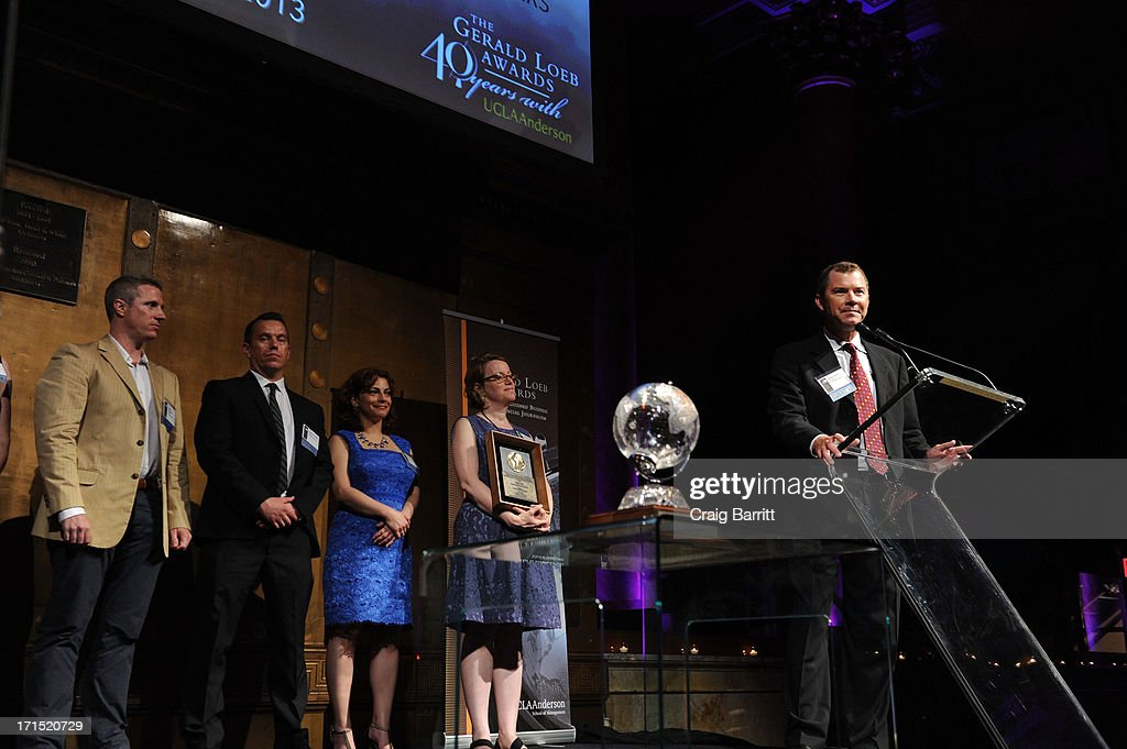 Brian Grow speaks onsstage at the 2013 Gerald Loeb Awards on June 25, 2013 in New York City.