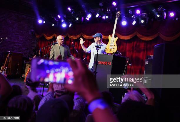 Brian Halligan CEO of the marketing group HubSpot wins Jerry Garcia's guitar in an auction on May 31 2017 in Brooklyn New York A guitar of Grateful...