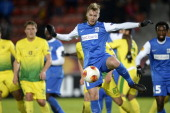 Brian Hamalainen of KRC Genk in action during the Europa League round 32 first leg match between FC Anji Makhachkala and KRC Genk on February 20 2014...