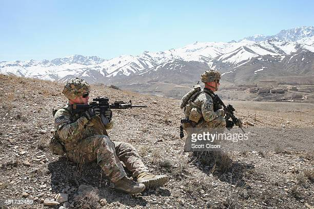 Brian Hamm from Plano Texas and 1LT John Levulis from Buffalo New York with the US Army's 2nd Battalion 87th Infantry Regiment 3rd Brigade Combat...