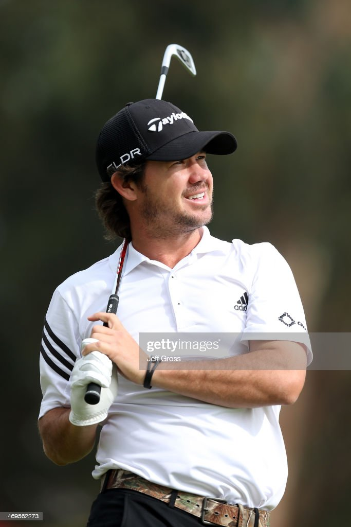 <a gi-track='captionPersonalityLinkClicked' href=/galleries/search?phrase=Brian+Harman&family=editorial&specificpeople=2286163 ng-click='$event.stopPropagation()'>Brian Harman</a> watches his tee shot on the 16th hole in the third round of the Northern Trust Open at the Riviera Country Club on February 15, 2014 in Pacific Palisades, California.