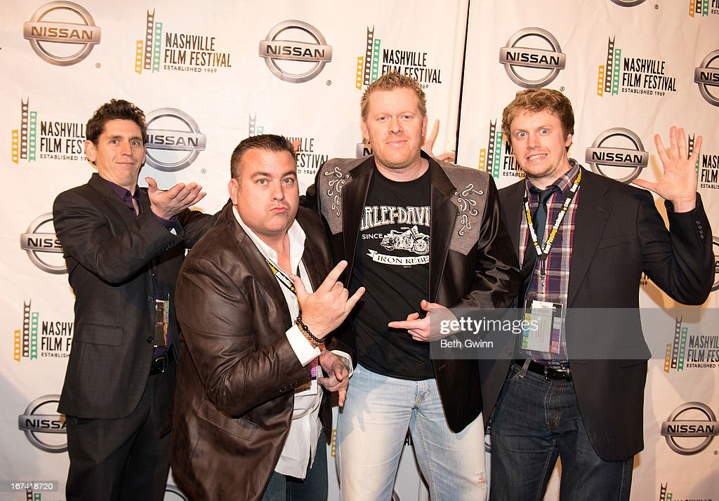 Brian Harstine, Chris McDaniel, Beau Braswell, and Casey Cross attends the 2013 Nashville film festival at Green Hills Regal Theater on April 24, 2013 in Nashville, Tennessee.
