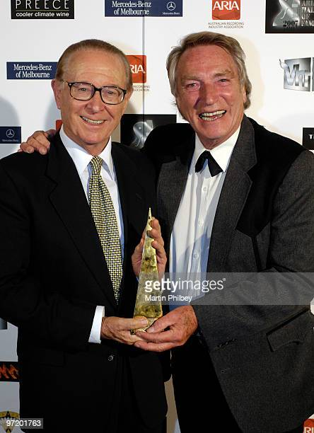Brian Henderson and Frank Ifield at the APRA Hall of Fame awards at the Regent Theatre on 18th July 2007 in Melbourne Australia