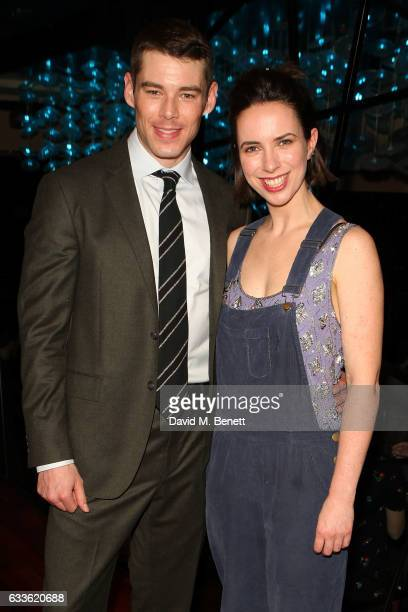 Brian J Smith and Kate O'Flynn arrive at the afterparty at DSTRKT following the press night performance of 'The Glass Menagerie' at The Duke Of York...