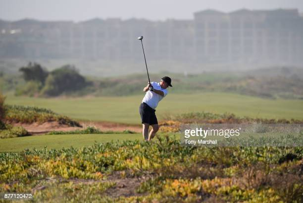 Brian Jamieson Captian of Airdrie Golf Club plays his first shot on the 8th tee during Day One of the SkyCaddie PGA ProCaptain Challenge Grand Final...