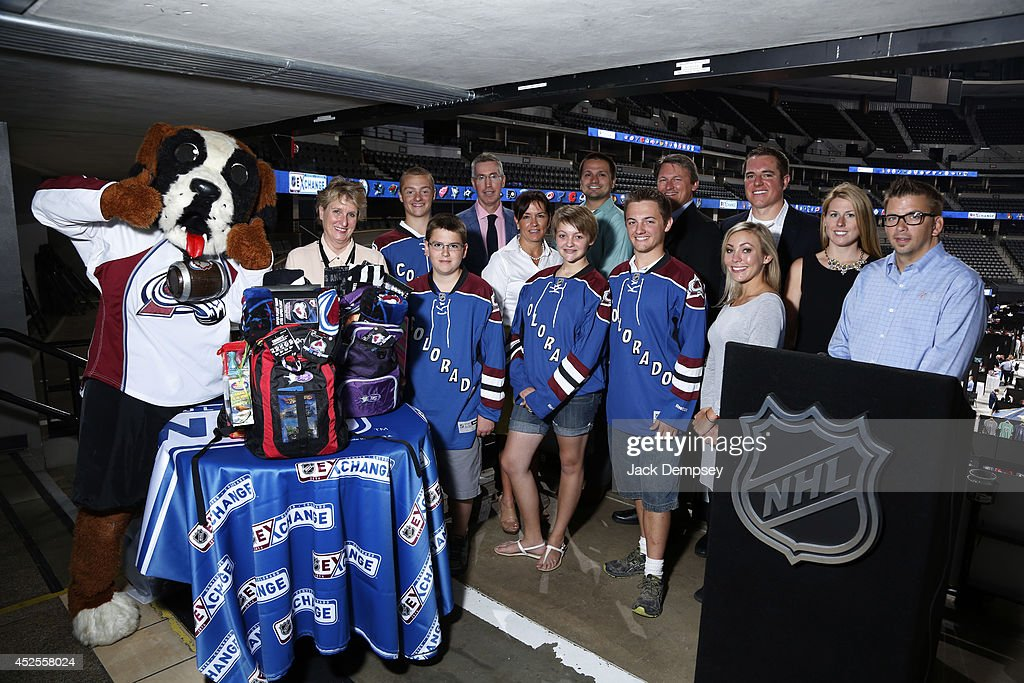 Brian Jennings NHL Chief Marketing Officer and Executive Vice President poses for a photo after making an announcement supporting the Gabby Krause...