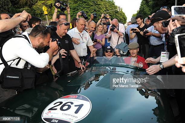 Brian Johnson attends Mille Miglia 2014 1000 Miles Historic Road Race on May 15 2014 in Brescia Italy