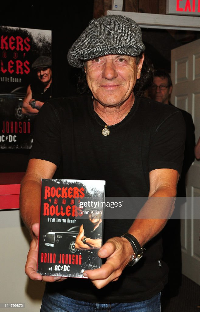 Brian Johnson singer for the group AC/DC promotes the new book 'Rockers and Rollers A FullThrottle Memoir at Bookends Bookstore on May 26 2011 in...