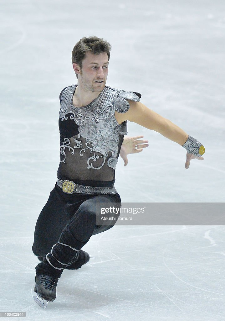 Brian Joubert of France competes in the men's free program during day two of the ISU World Team Trophy at Yoyogi National Gymnasium on April 12, 2013 in Tokyo, Japan.