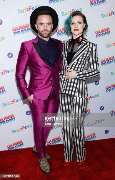 Brian Justin Crumb and Evan Rachel Wood arrive at Buzzfeed Hosts 1st Inaugural Queer Prom For LGBT Youth Los Angeles at Siren Studios on May 13 2017...