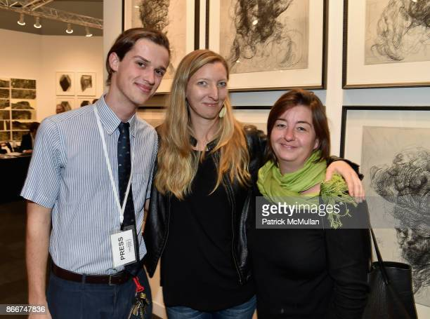 Brian Karlsson Deb Chaney and Caitlin Riordan attend the IFPDA Fine Art Print Fair Opening Preview at The Jacob K Javits Convention Center on October...