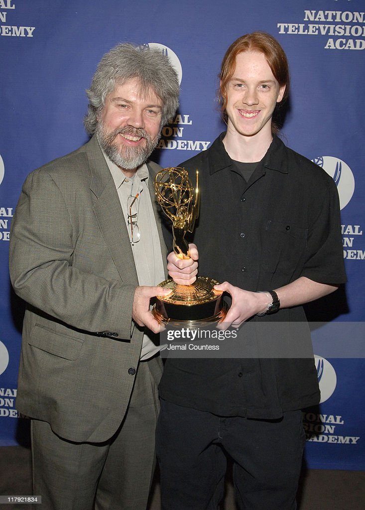Brian Keane and son during 26th Annual Sports Emmy Awards - Press Room at Frederick P. Rose Hall at Jazz at Lincoln Center in New York City, New York, United States.