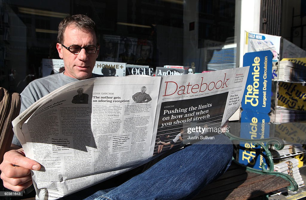 Brian Keeney reads the San Francisco Chronicle as he sits on a bench in front of a newsstand October 26, 2009 in San Francisco, California. A report by the Audit Bureau of Circulations reveals that the average daily circulation of U.S. newspapers fell 10.6 percent in the six month period between April-September compared to one year ago. The San Francisco Chronicle had the largest decline with a drop of 25.8 percent to 251,782. The Wall Street Journal surpassed USA Today as the number one selling paper in the U.S. after USA Today had its circulation drop more than 17 percent to 1.90 million.