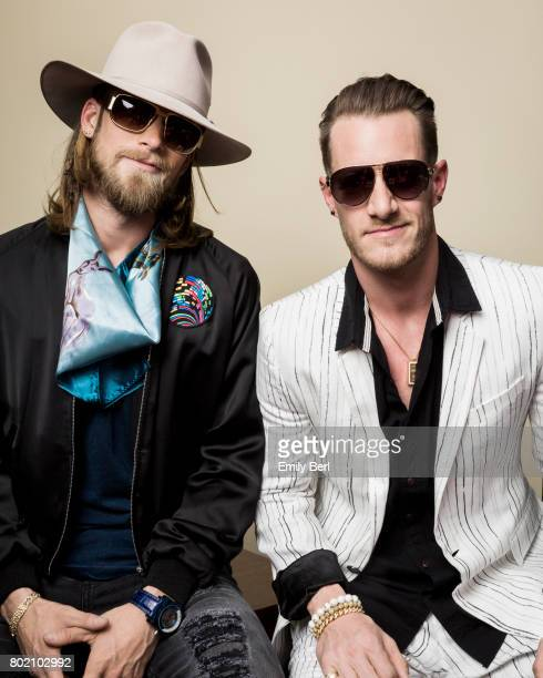 Brian Kelley and Tyler Hubbard of Florida Georgia Line are photographed for VSCO on May 21 2017 in Las Vegas Nevada