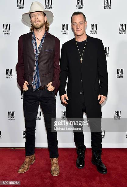 Brian Kelley and Tyler Hubbard of Florida Georgia Line attend the 64th Annual BMI Country awards on November 1 2016 in Nashville Tennessee