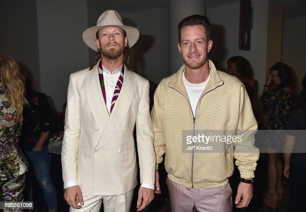 Brian Kelley and Tyler Hubbard of Florida Georgia Line attend the 2017 CMT Music Awards at the Music City Center on June 7 2017 in Nashville Tennessee