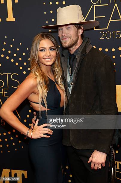 Brian Kelley of Florida Georgia Line and BrittneyMarie Cole Kelley attend the 2015 'CMT Artists of the Year' at Schermerhorn Symphony Center on...