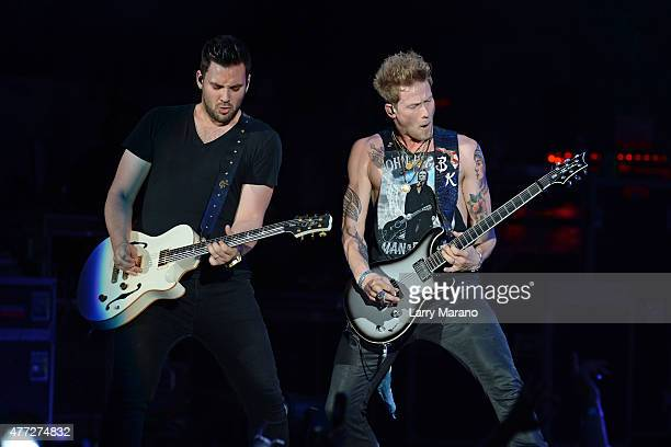 Brian Kelley of Florida Georgia Line performs at the Coral Sky Ampitheatre on May 28 2015 in West Palm Beach Florida