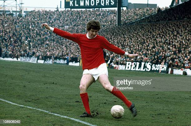 Brian Kidd of Manchester United in action against West Bromwich Albion in a Division One match played at The Hawthorns West Bromwich on 6th March...
