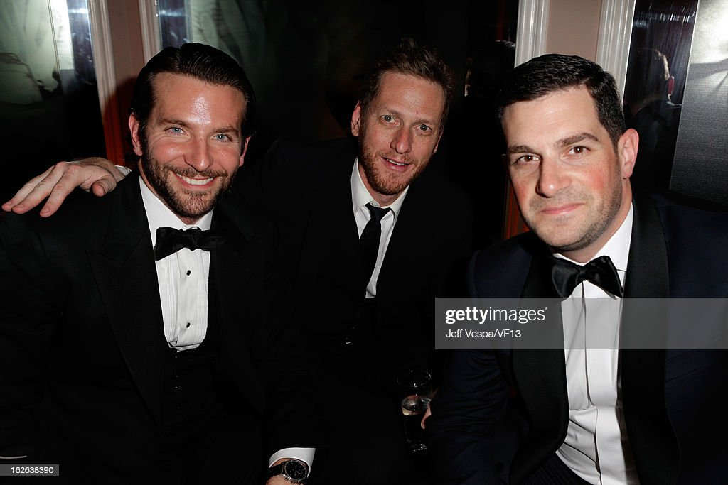 Brian Klugman and David Bugliari attends the 2013 Vanity Fair Oscar Party hosted by Graydon Carter at Sunset Tower on February 24, 2013 in West Hollywood, California.