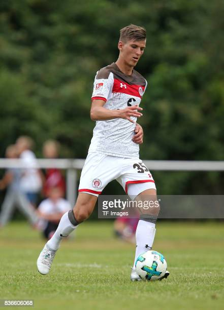 Brian Koglin of St Pauli controls the ball during the preseason friendly match between VfB Oldenburg and FC St Pauli on July 8 2017 in Varel Germany