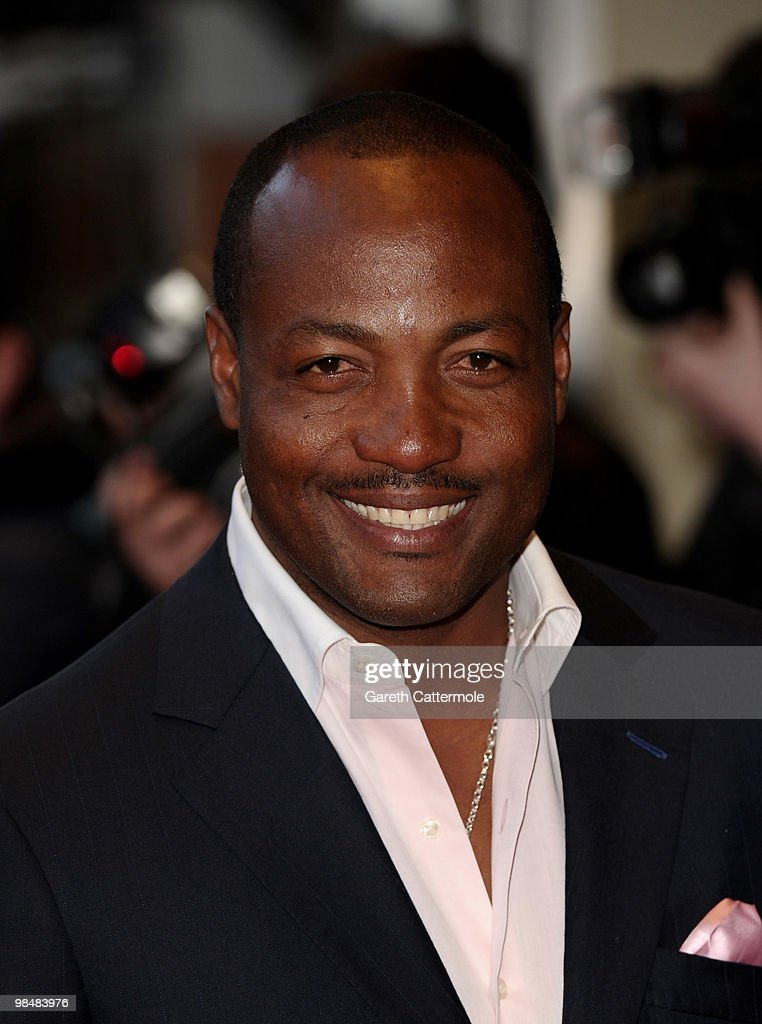 <a gi-track='captionPersonalityLinkClicked' href=/galleries/search?phrase=Brian+Lara&family=editorial&specificpeople=162724 ng-click='$event.stopPropagation()'>Brian Lara</a> arrives at 'The Heavy' UK film premiere at the Odeon West End on April 15, 2010 in London, England.
