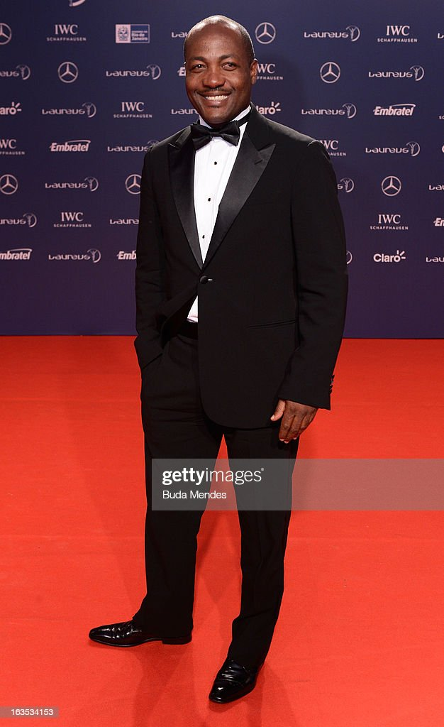 <a gi-track='captionPersonalityLinkClicked' href=/galleries/search?phrase=Brian+Lara&family=editorial&specificpeople=162724 ng-click='$event.stopPropagation()'>Brian Lara</a> attends the 2013 Laureus World Sports Awards at the Theatro Municipal Do Rio de Janeiro on March 11, 2013 in Rio de Janeiro, Brazil.