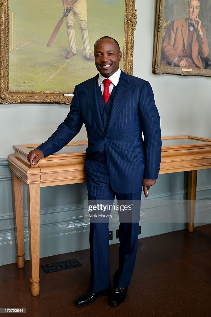 Brian Lara attends the Savile Row & St James's Presentation during the London Collections: MEN SS14 at Lord's Cricket Ground on June 17, 2013 in London, England.