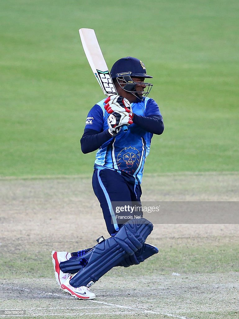 <a gi-track='captionPersonalityLinkClicked' href=/galleries/search?phrase=Brian+Lara&family=editorial&specificpeople=162724 ng-click='$event.stopPropagation()'>Brian Lara</a> of Leo Lions bats during the Oxigen Masters Champions League Semi Final match between Leo Lions and Virgo Super Kings at Dubai International Cricket Stadium on February 12, 2016 in Dubai, United Arab Emirates.