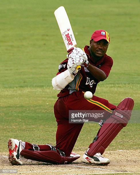 Brian Lara of the West Indies in action during game seven of the VB Series One Day International Tournament between Pakistan and the West Indies...
